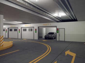 Въезд в подземный паркинг